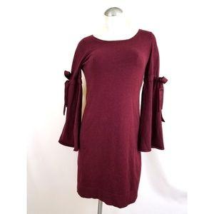 Max Studio Size XS Burgundy Red Knit Dress